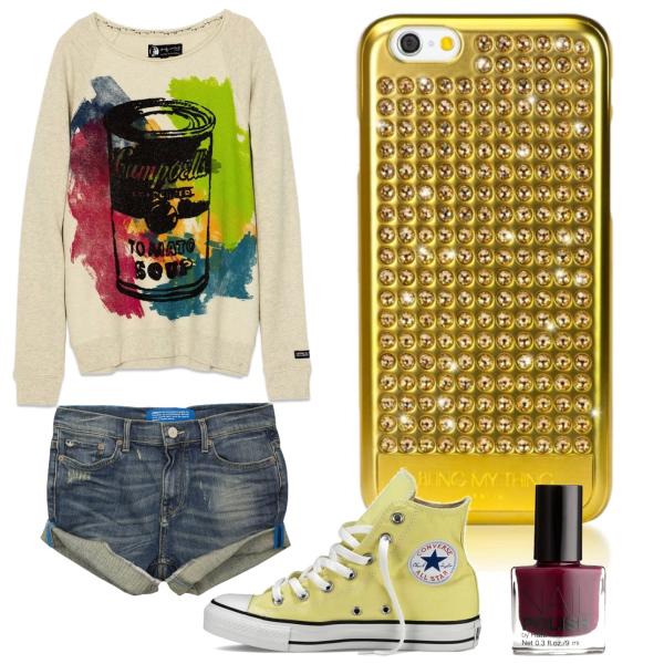 Pohodový outfit s pouzdrem Swarovski pro iPhone