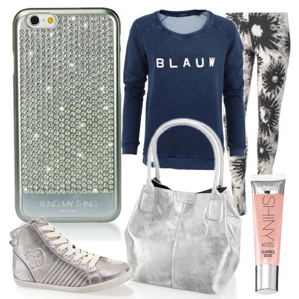 Stříbrný outfit s pouzdrem Swarovski pro iPhone