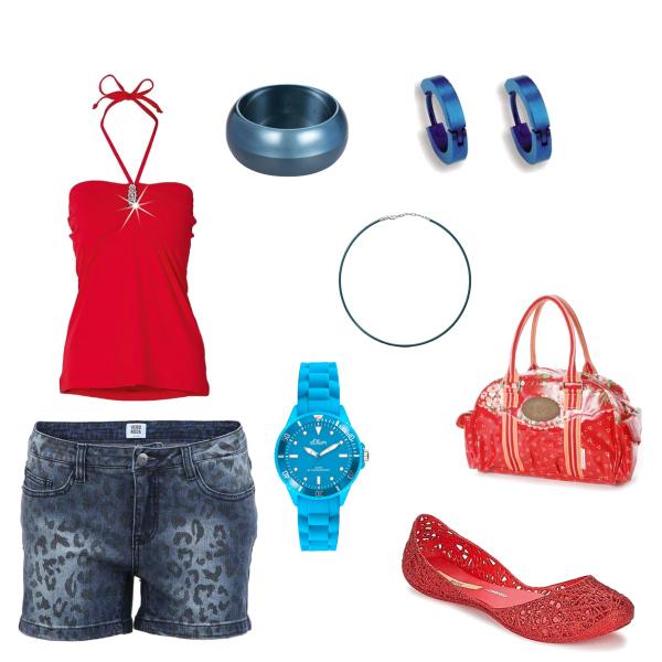 červeno-modrá
