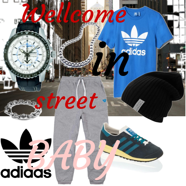 Wellcome in street baby