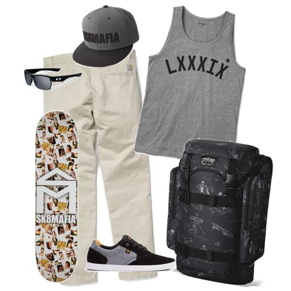 Skateboard sun set
