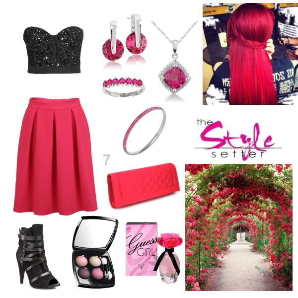 pink black set