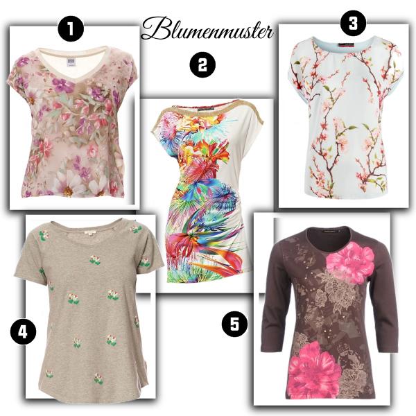 T-shirts mit Blumenmuster