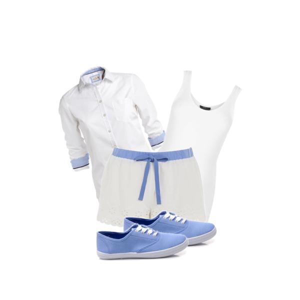 bílo-modrá