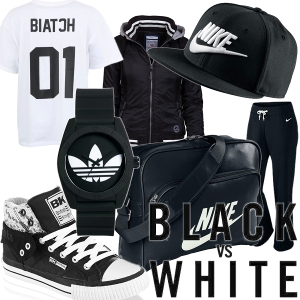 Black and white in sport
