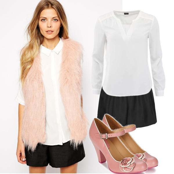 S růžovou vestou