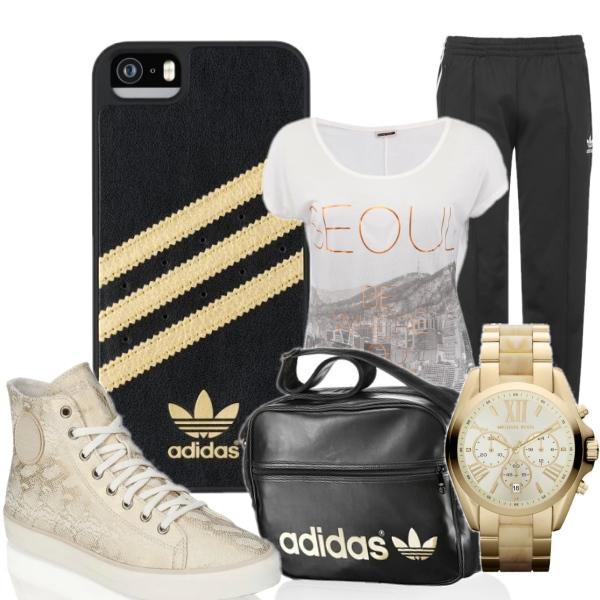 Pohodový outfit Adidas pro dámy