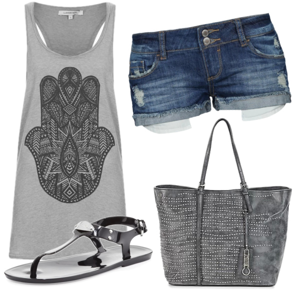 My tip to outfit in gray :)