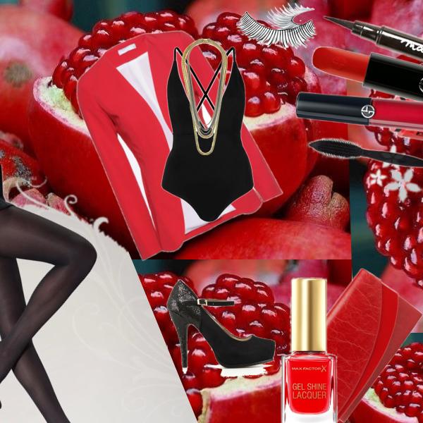 sexy červená kombinace