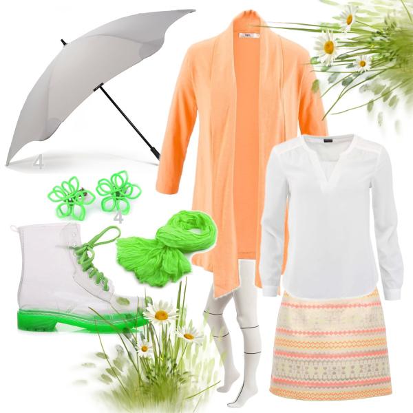 jarní barvy v dešti