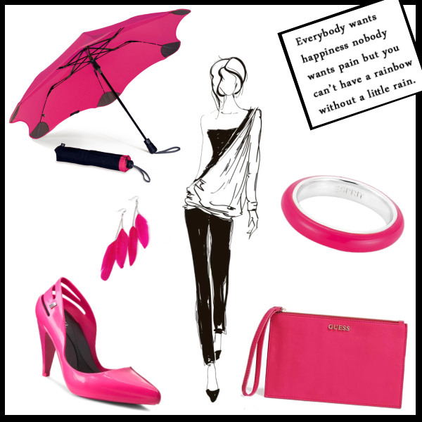 rain with magenta joy