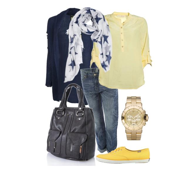 Oblíbená kombinace - modrá se žlutou