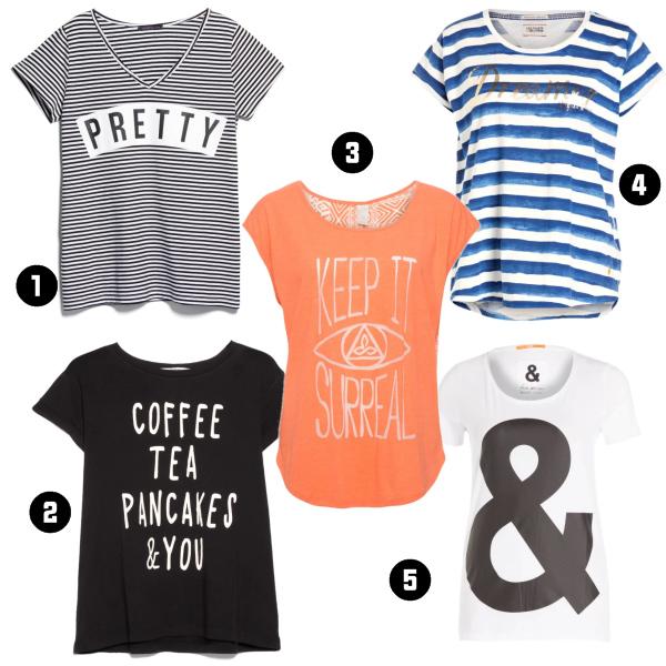 T-Shirts mit Aufschriften