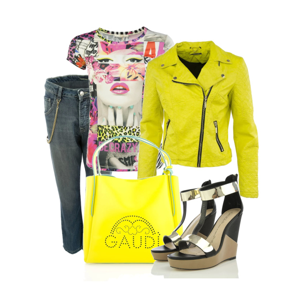 Perfect Yellow Biker Jacket