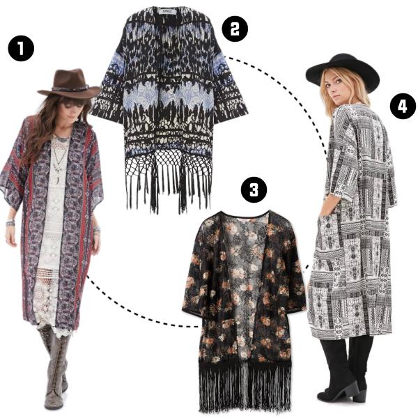 Trendige Kimonos