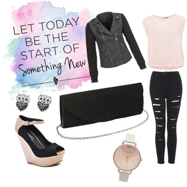 Sweet Pink and Dark Black