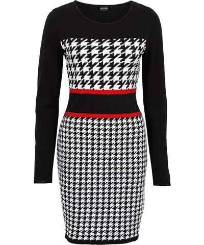 Pletené retro šaty s dlouhým rukávem - Glami.cz 0aad689b5d