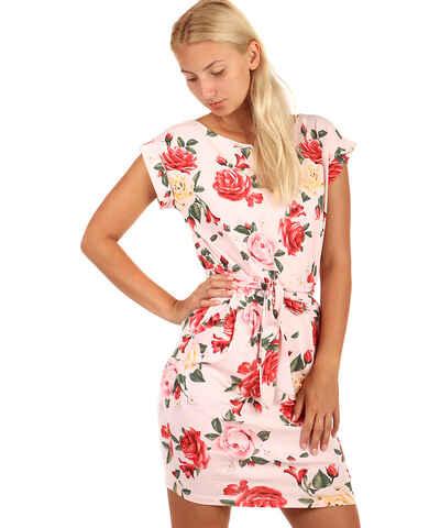 Glara Ružové Kvetované Šaty - Glami.sk fcd504a1180