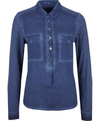 dunkelblaue blusen und tuniken f r damen im shop s oliver. Black Bedroom Furniture Sets. Home Design Ideas