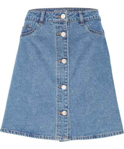 Džínové jednobarevné sukně - Glami.cz f5302200c8