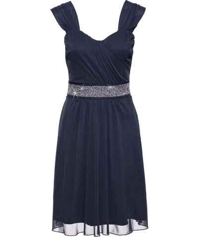 959a4cddfd93 Modré šaty s velkým výstřihem - Glami.cz