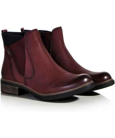 Červené zimní chelsea boots - Glami.cz b1cea878f9