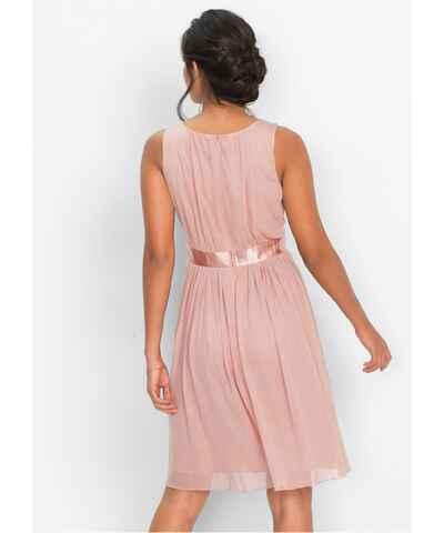 Růžové šaty pro družičky bez rukávů - Glami.cz 185455b4b1