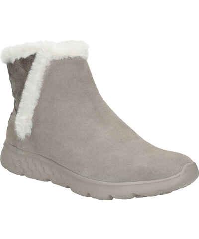 0424268ff57 Skechers šedé kožené dámské boty - Glami.cz