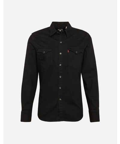 Černé džínové pánské košile - Glami.cz 5e5b67bd44