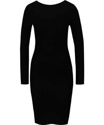 Čierne Puzdrové Šaty  be6576238a3