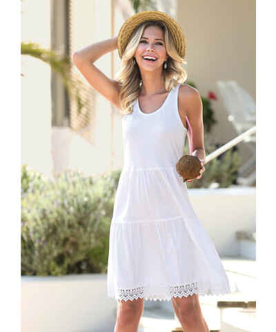 Bílé šaty velikost s s krajkou - Glami.cz 6aa85438c1