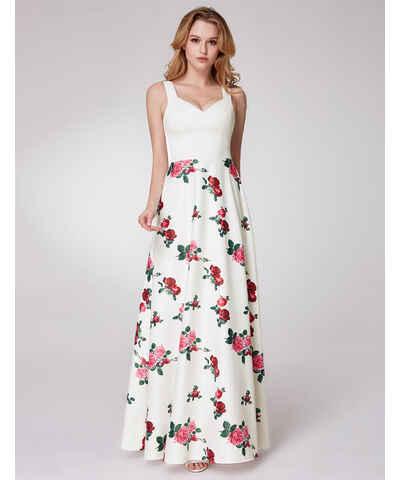 Bílé jarní maxi šaty - Glami.cz 3a42022739