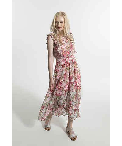 Růžové casual dlouhé šaty - Glami.cz 935f15c39c