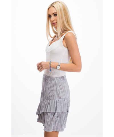 4a60daf54fd8 Stříbrná krátké sukně - Glami.cz