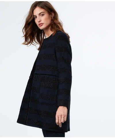 etam bleu fonc vestes et manteaux pour femmes. Black Bedroom Furniture Sets. Home Design Ideas