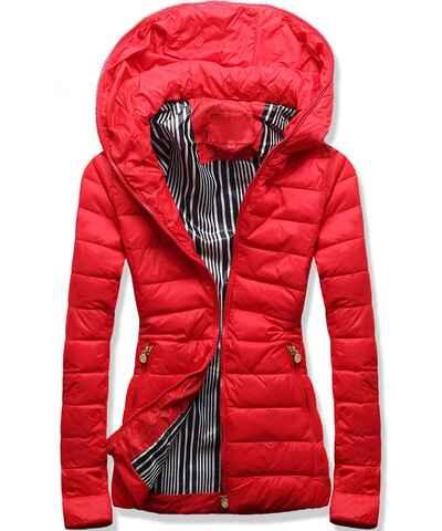 6f779e7afd Červené Dámske bundy a kabáty veľkosť S z obchodu Modovo.sk - Glami.sk