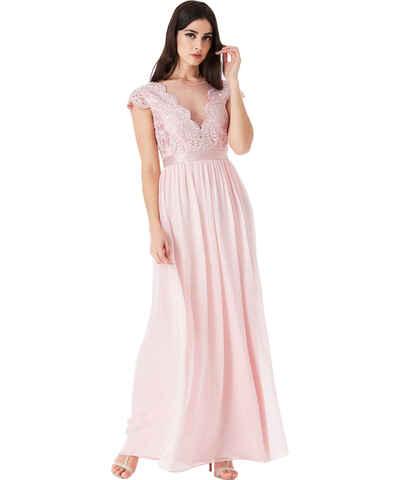 Růžové šifonové maturitní společenské šaty - Glami.cz 068a8b800bb