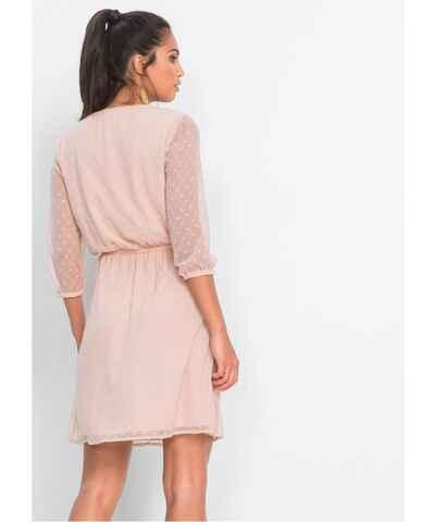c702690dec1e Růžové šaty s dlouhým rukávem