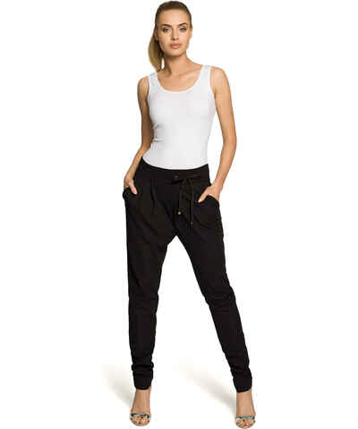 15199406e5ea Čierne Dámske elegantné nohavice z obchodu Modalux.sk