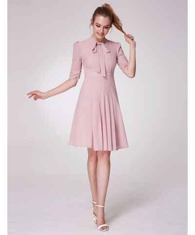 Růžové šifonové svatební šaty - Glami.cz 20a03761dc