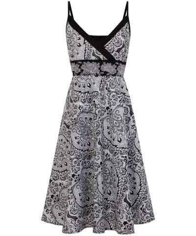 6b192d1704c Černobílá květované šaty - Glami.cz