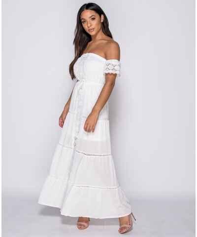 Bílé plážové šaty z obchodu PrimaButik.cz - Glami.cz c4364a8e51