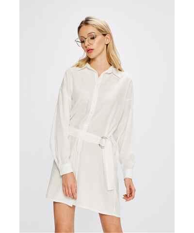 Bílé košilové šaty velikost l - Glami.cz 92ee419bcad