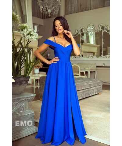 Modré svatební společenské maxi šaty - Glami.cz 3b2e68f805