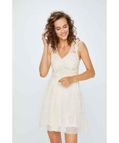 Bílé šaty s výšivkou - Glami.cz ad9a435227