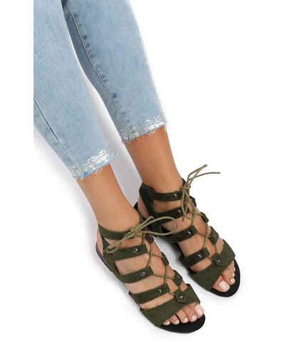 7d9293df91 Šnurovacie dámske sandále