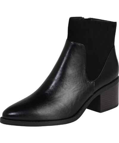 Podzimní kožené dámské boty na podpatku - Glami.cz d2855edd6a