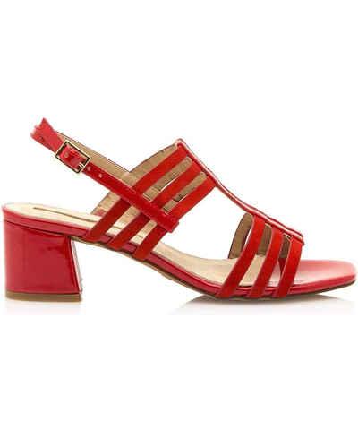 2359602eee39 Červené retro dámské boty na podpatku - Glami.cz