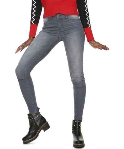 Šedé dámské džíny slim fit  057bbced0d