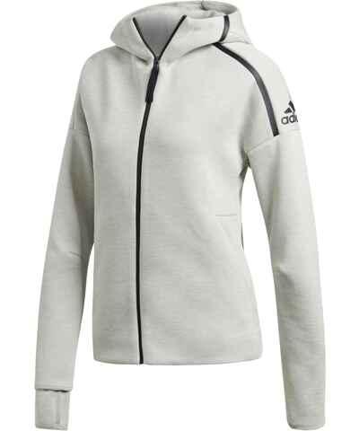 Adidas šedé dámské mikiny na zip - Glami.cz 64917099016
